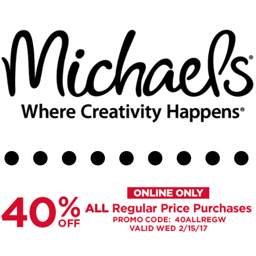 Michael's : 40% off Regular Price items