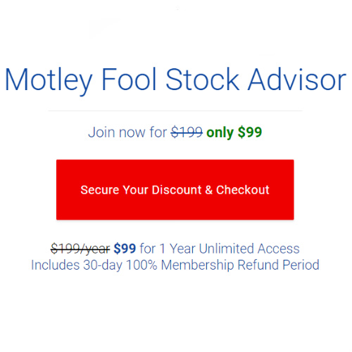 50% off Motley Fool Stock Advisor : Only $99/year with 30-day 100% membership refund period