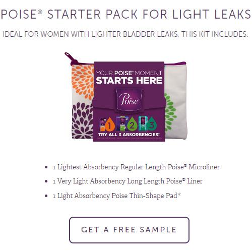 Poise for Women : Free Sample Kit