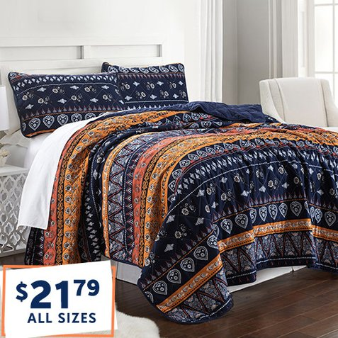 66% off 3-PC Quilt Sets : Only $21.79