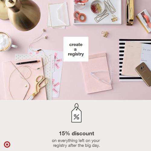 Target Wedding Registry : 15% off Discount