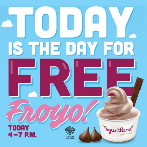 Yogurtland : Free Yogurt Day