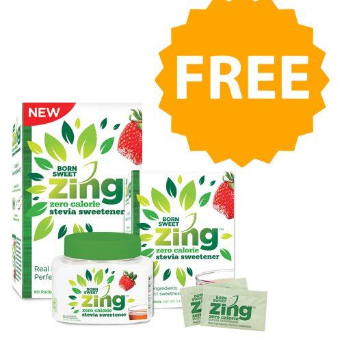 Born Sweet Zing Zero Calorie Stevia Sweetener Sample