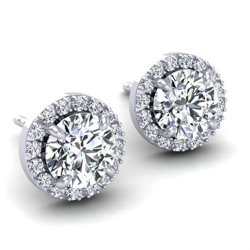 Swarovski Halo Earrings : $6 + Free S/H