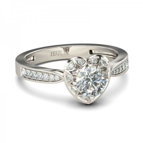 77% off White Sapphire Heart Ring : $38.74 + Free S/H
