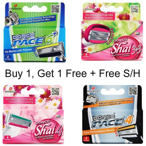 Dorco Razor Cartridges : Buy 1, Get 1 Free + Free S/H