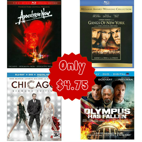 Blu-ray Movies : Only $4.75