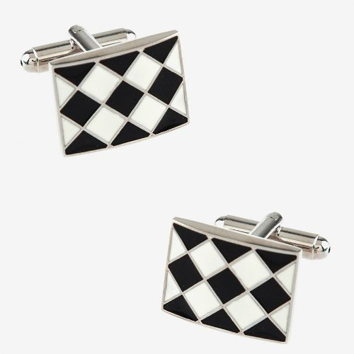 Checked Cuff Links : $5 + Free S/H
