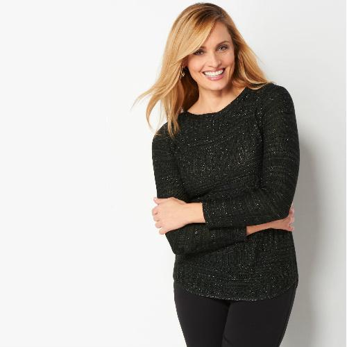 Chevron Shine Pullover Sweater : $9.99 + Free S/H