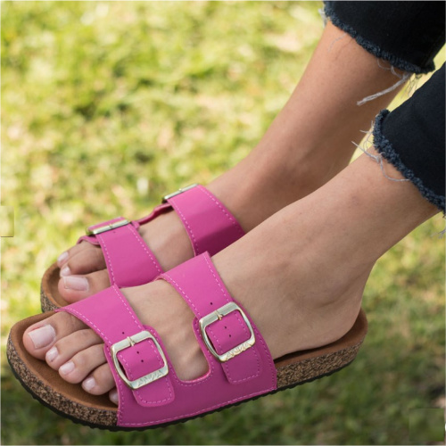 76% off Women's Double Buckle Sandals : Only $14.99