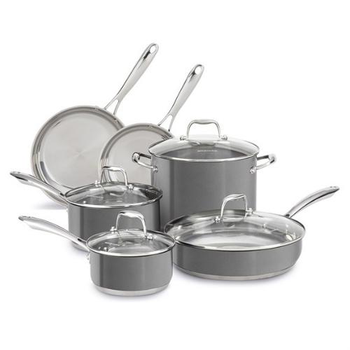 10-PC KitchenAid Cookware Set : $109.99