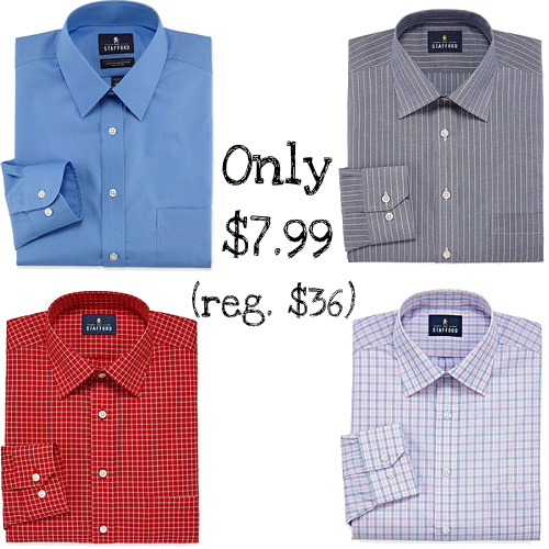 78% off Men's Stafford Dress Shirts : Only $7.99