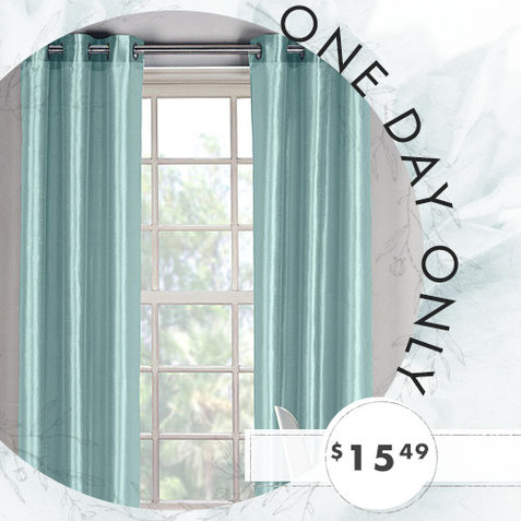 82% off 2-PK of 84″ Silky Curtain Panels : Only $15.49