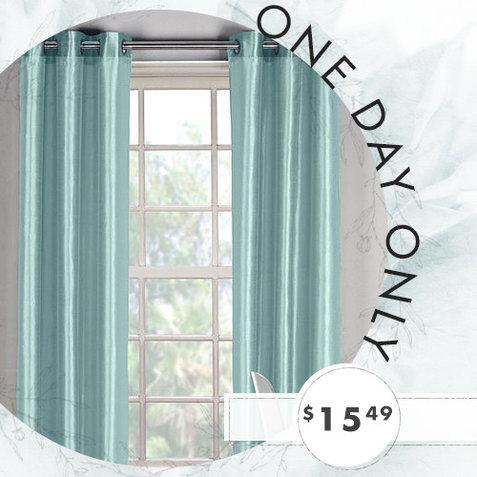clearance silky curtain panels