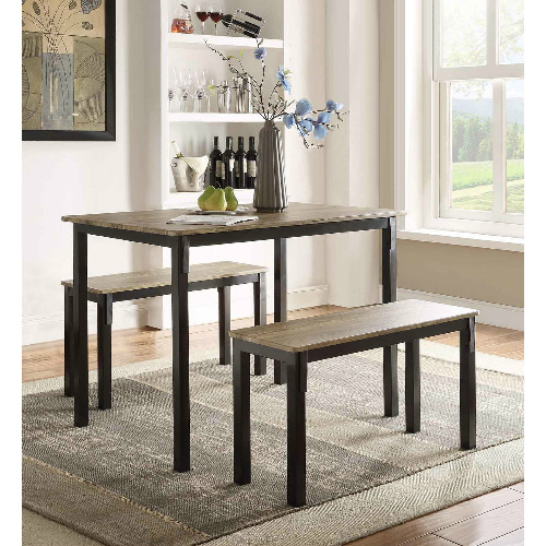 Compact Dining Table with Benches : $164.99 + Free S/H