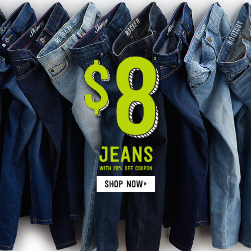 60% off Children's Jeans : Only $8 + Free S/H