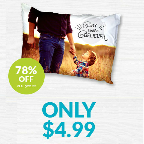 Custom Photo Pillowcase : $10.98 Shipped