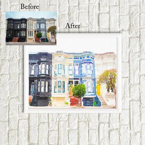 Custom Watercolor House Print : $12.99
