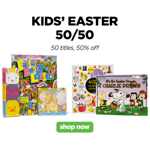 Easter Books : Extra 50% off + $5 off $5 or more