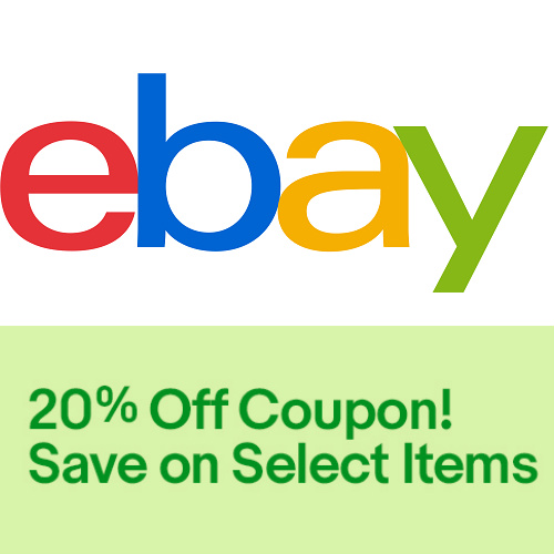 eBay : 20% off $25 Coupon