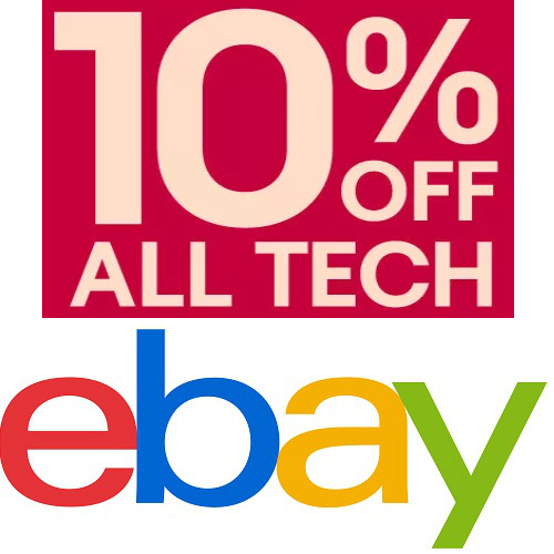 eBay Coupon : 10% off $50 or more on Tech items