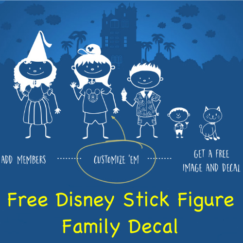 Disney : Free Stick Figure Family Decal