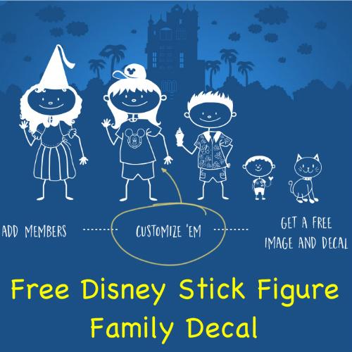 free disney stick figure family decal