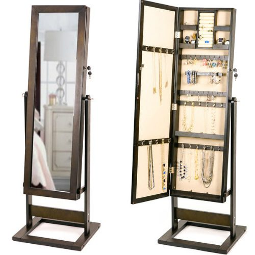 Jewelry Storage Floor Mirror : $113.99 + Free S/H