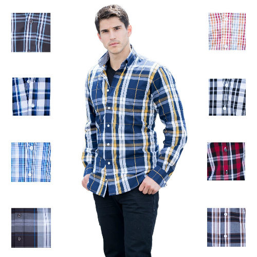 Men's Cotton Plaid Shirts : $9.99 + Free S/H