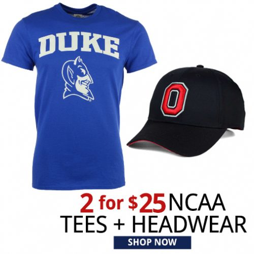 NCAA Hats and Tees : 2 for $25