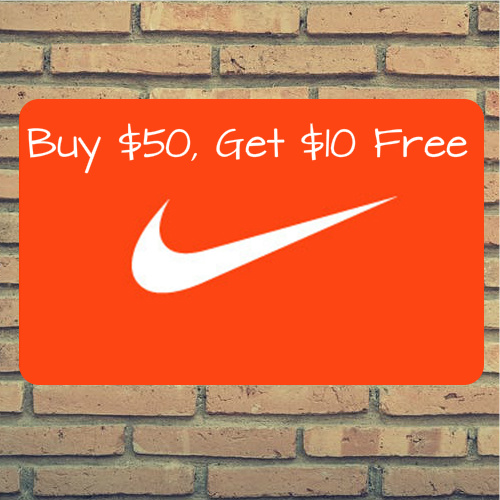 $60 Nike Gift Card : Only $50
