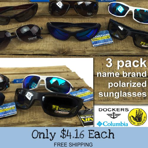 84% off 3 Pairs of Men's or Women's Polarized Sunglasses : $12.49 + Free S/H