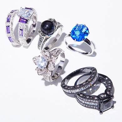 CZ and Swarovski Rings : Up to 80% off
