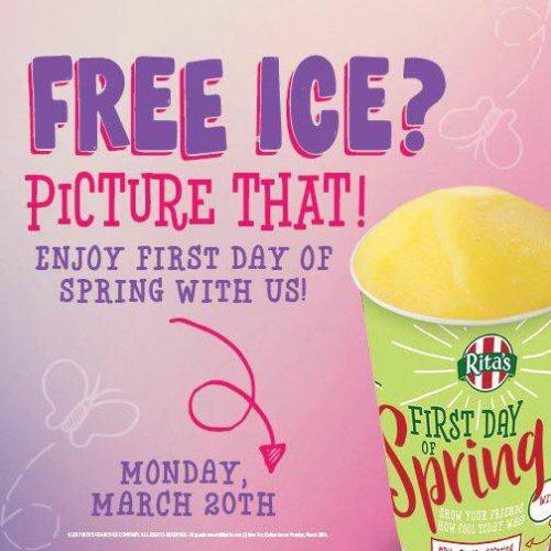 ritas free ice spring promo