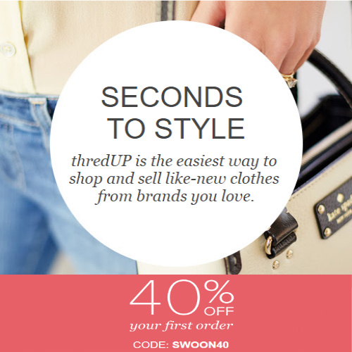 ThredUp Coupon : 40% off your 1st order