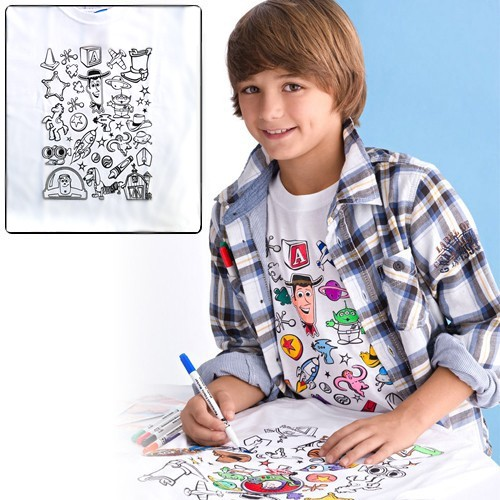 Colorable Toy Story T-Shirt : $4.99 + Free S/H