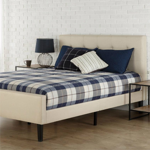 Full or Queen Upholstered Platform Bed : $159 + Free S/H