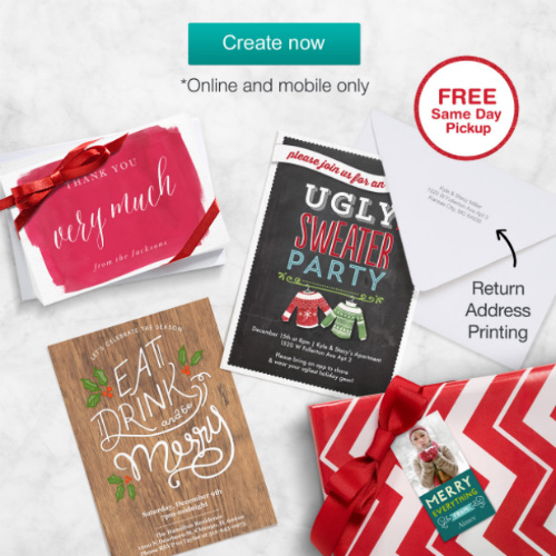 Walgreens : 60% off Premium Cards + Free Return Address Printing