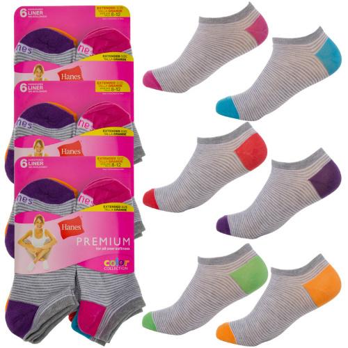 18 Pairs of Women's Hanes No-Show Socks : $12.95 + Free S/H