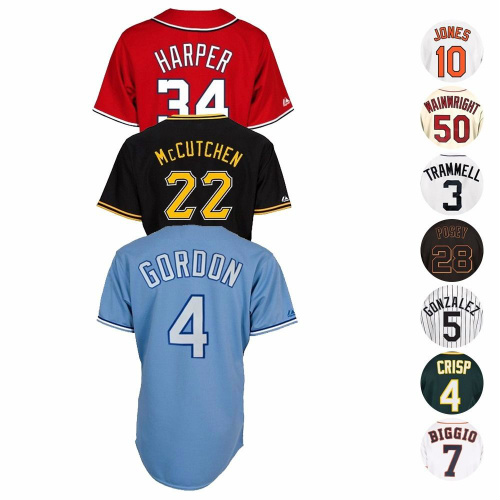 60% off MLB Official Team & Player Replica Jerseys : $40 + Free S/H