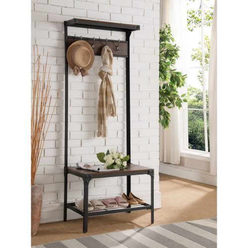 Mathilde Antique Metal and Wood Hall Tree