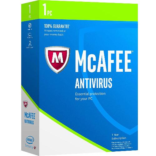 McAfee AntiVirus 1 PC sale