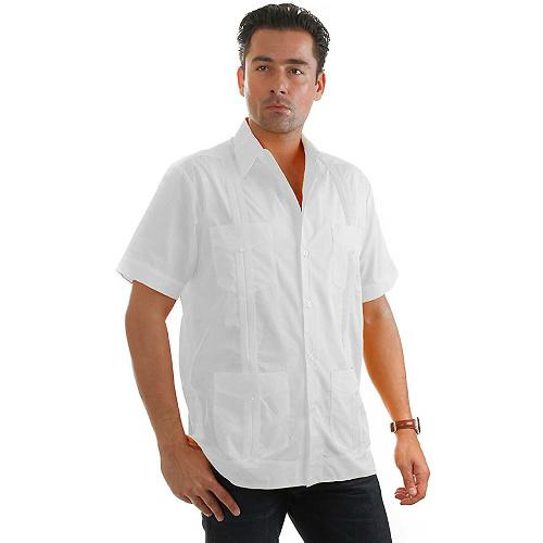 Mojito Collection Mens Short Sleeve Guayabera Shirt