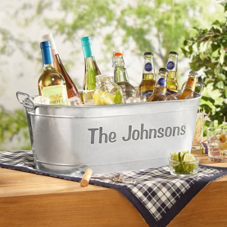 26% off Personalized Galvanized Beverage Tub : $19.97