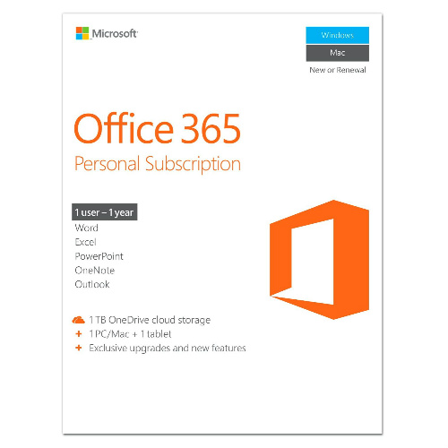 Microsoft Office 365 Personal Subscription : $39.99 + Free S/H
