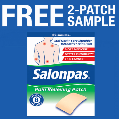 Salonpas Pain Relieving Patch : Free Sample Pack