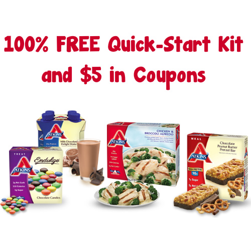Atkins : Free Quick Start Kit + $5 in Coupons