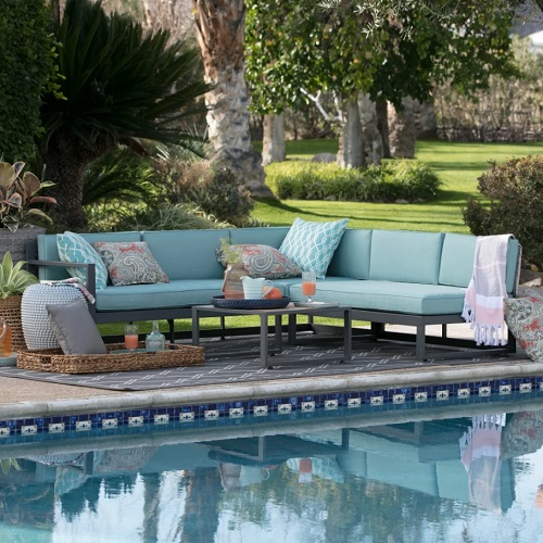 belham living silverton metal 3-piece patio sectional with table