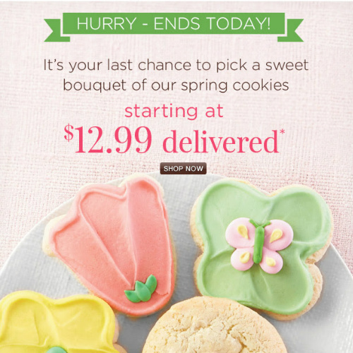 Spring Cookie Sampler : $12.99 + Free S/H