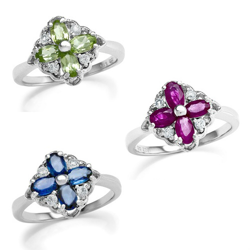 83% off Gemstone Cocktail Rings : $25 + Free S/H
